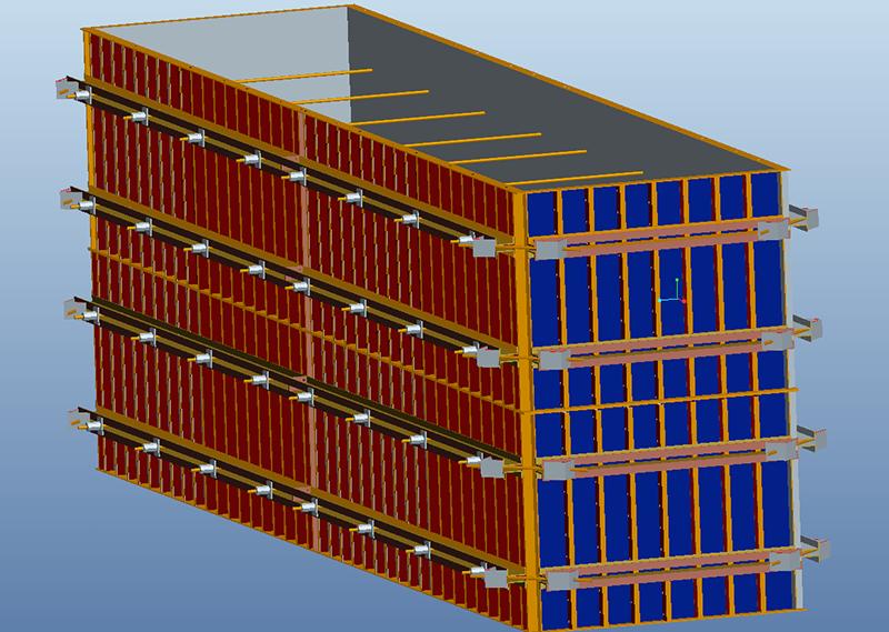 方墩模板三维图
